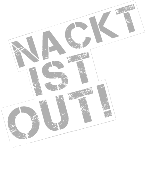 nackt ist out - Logo